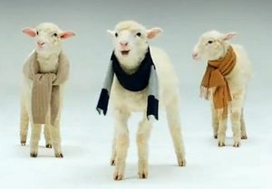 Brooks Brothers Holiday Ad - Lambs Singing Jingle Bells - 47 sec