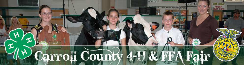 Carroll County 4-H Fair 993x265